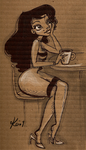 carboard and coffee by kinkei