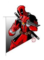 Deadpool colored by maybeDIETER
