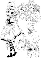Eternal Sonata Assorted Sketches by Claire-Aegis-Faust
