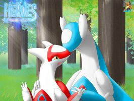 Latias and Latios by SurfingCharizard