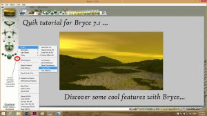 Quick Tutorial for Bryce 7.1... by Topas2012