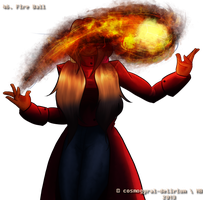 46. Fire Ball by cosmogyral-delirium