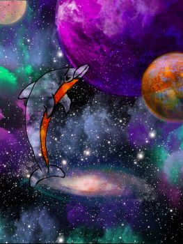 galaxy dolphin by pandablaze