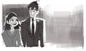 Disney's Paperman by Sunnyfeather