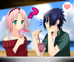 :sasuke and sakura: by sasuXsaku-1995