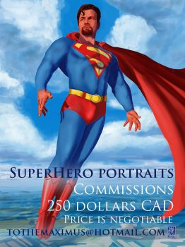SUPER HERO PORTRAITS -250 CAD by MaximeChiasson