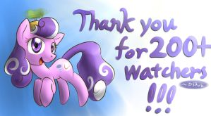 MLP - Thank You (200+ Watchers!) by DShou