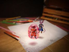 Dragonball Z battle of the Gods part1 3D drawing by ATCdrawings