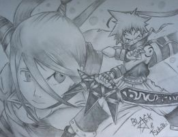 Black star and Tsubaki by GraficFX