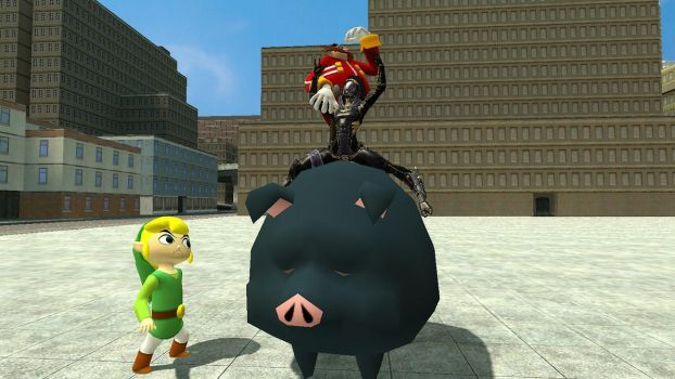 GMod: Ride the pig! by TEi-Has-Pants
