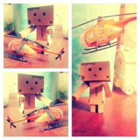 Danbo and Helicopter by WINDEARTFLY