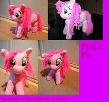 Pinkie Pie the plushie by Crystal-Dream
