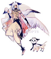 [CLOSED] adopts auction - Oriental Owl by Polis-adopts