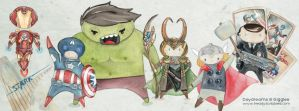 Avengers Assemble part 1 by freddyscribbles