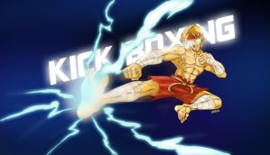kick boxing thunder by Andres-Iles