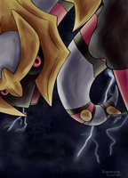 ACEO trade-giratina origin form by Leptocyon