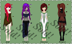 Adopts set Closed by Kat-and-Raven-ADOPTS