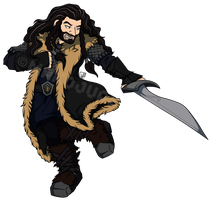Thorin Oakenshield - Massive Middle Earth Collab by Makojupiter