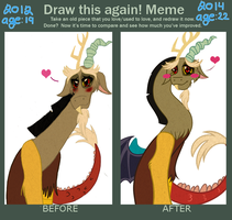 Before and After meme of: Discord! by Garfield141992