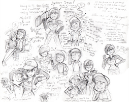 Felix and Calhoun Sketches ::SPOILER ALERT:: by SparkleNaut