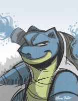 Blastoise Quickie by Spidersaiyan