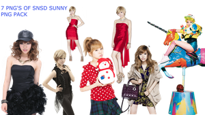 SNSD SUNNY PNG PACK by Acoojoy13