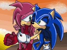 emiliano and sonic  *rose* by mimizazule06