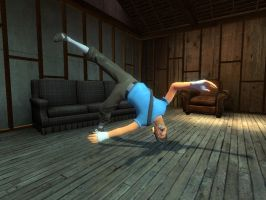 Breakdancing scout by Demonyoshi