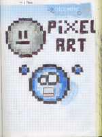 Pixel art on a diary by DrM94