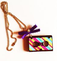 TechnoLogic Mix Tape Necklace by prheat
