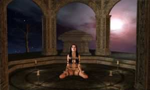 The dark Queen's prayer 6 by valellis