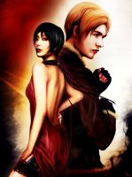 Ada and Leon_Resident Evil 4 A by Kunoichi1111