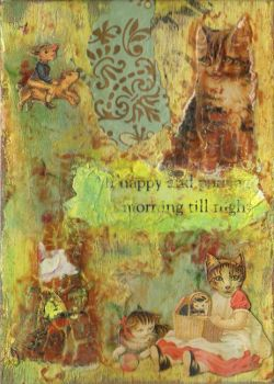 My Wife's Messy Cat ATC by OllieP
