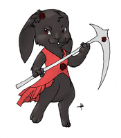 Grim rabbit comm by Dogmaniac