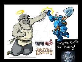 Tribute to VALIANT HEARTS and Shovel Knight by Borishehe