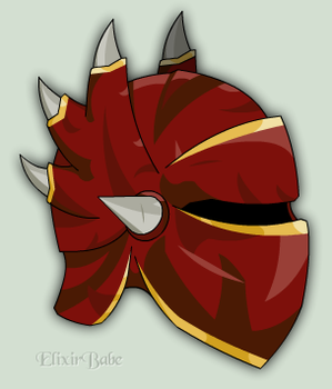 Runescape: Dragon Full Helm by ElixirBabe