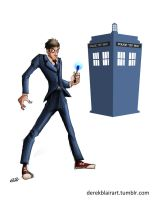 Daily Warm-Up: Doctor Who by derekblairart