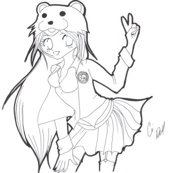 PB school girl 2-uncolored by Rena-Muffin
