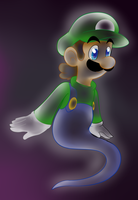 Ghost Luigi  by raygirl12