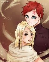 Commission - Gaara and Mira by szyszke