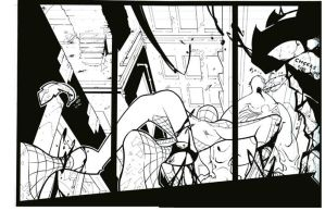 Spidey and Venom is inked by cheeks-74