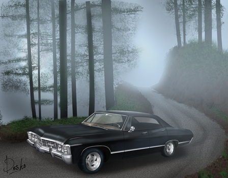 Supernatural Impala by desKO08