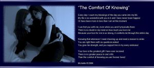The Comfort of Knowing by VisualPoetress