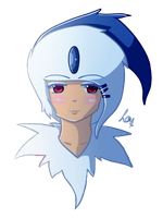 Absol - Headshot by BulletMistress