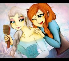 Anna and Elsa by Christy58ying