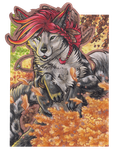 ACEO - Autumn Child by BloodhoundOmega