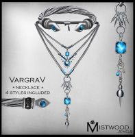 VargraV - Unisex Necklace Aquamarine Version by Aedil