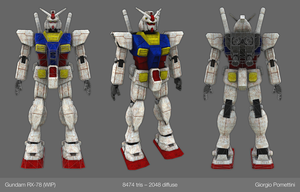Gundam RX-78 (WIP) by MightyDargor