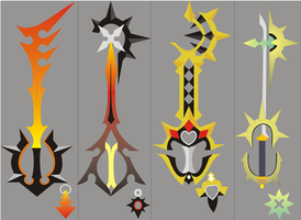 Kingdom Hearts 358-2 keyblade3 by nativetech