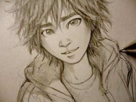 Big Hero 6 - Hiro Hamada sketch by Lehanan